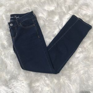 AE dark blue jeggings EUC
